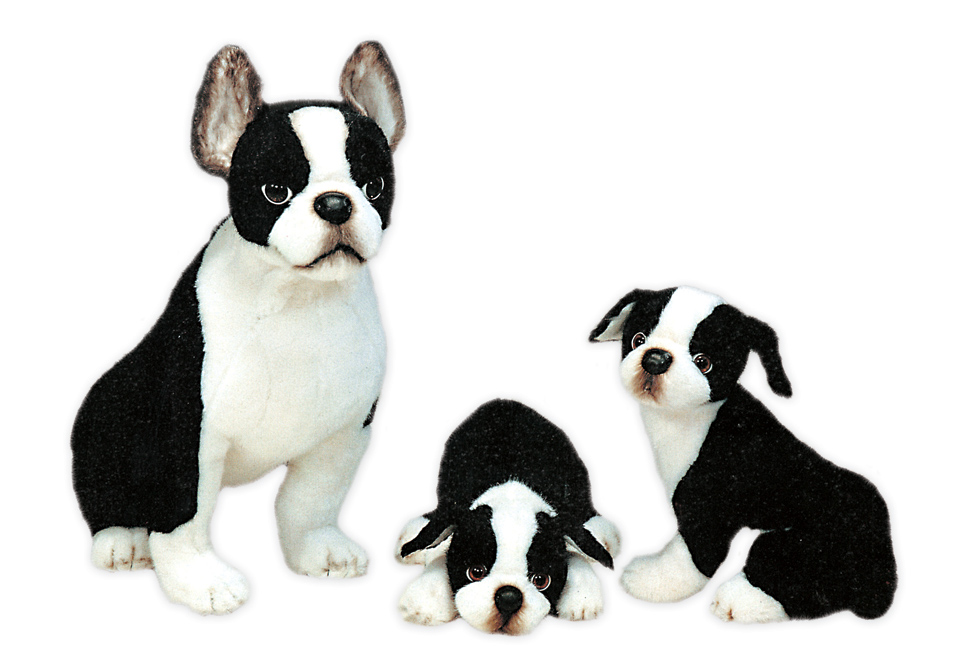 Plush Boston Terriers Realistic Stuffed Animals Piutre