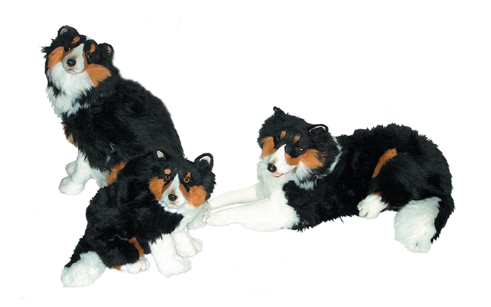 Plush Shetland Sheepdogs Realistic Stuffed Animals Piutre