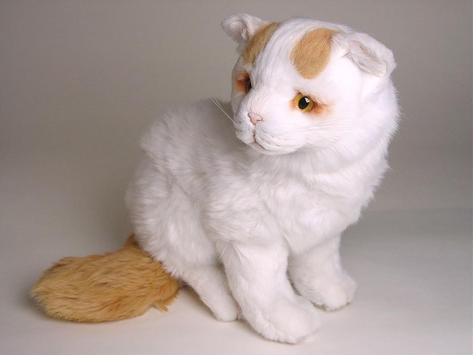 Stuffed Grey And White Cat